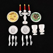 Tradico® 13Pcs Play House Toys for Children Kids Candlelight Dinner Props Barbies Dz