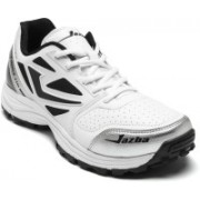 Jazba One Drive 110 Cricket Shoes For Men(White)