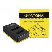 Patona USB LCD Dual Charger punjač za Sony NP-BX1 DSC RX-100 DSC RX100 M II M2 DSC RX1r WX300 HX50V HX300 5392