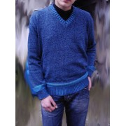 Elle Creazioni Kansas Sweater Light Blue/White