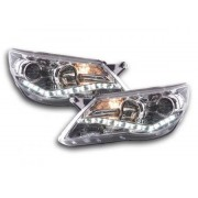 FK-Automotive Phares Daylight pour VW Tiguan année 07-11, chrome