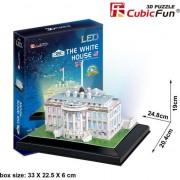 Puzzle CubicFun 3D LED Casa Alba