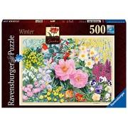 Ravensburger -The Cottage Garden - Winter - 500 pc Puzzle