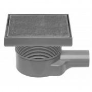 Easydrain Aqua quattro vloerput abs 15 x 15 cm. horizontaal tegel / rvs