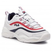 Сникърси FILA - Ray Low Wmn 1010562.150 White/Fila Navy/Fila Red