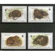 Jamaica 1996 WWF Hutia Indian Coney Rodents Wildlife Animals Sc 857-60 MNH Stamp Set 4v