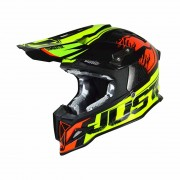 Just1 Crosshelm J12 Dominator Neon Lime/Red-XS