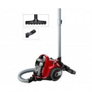 Прахосмукачка без торба Bosch BGC05AAA2, 700W, 1.5 л, Филтър PureAir, Четка за паркет, Easy Clean, Червена/Черна