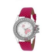 idivas 110 Pink Velvet Women Analog watch for Girls and Ladies Watch - For Women