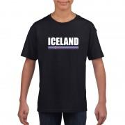 Bellatio Decorations Zwart IJsland supporter t-shirt voor kinderen