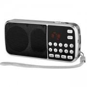 Портативно FM радио с MP3 плеър DIVA, Черно, L-088