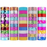 DIY Crafts Washi Tape Set of 50 Rolls Multi-Purpose Masking Tape Great for Arts Crafts DIY - Multicolour