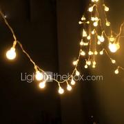 zonne-energie snaar licht waterdichte led strip 10m 100LED koperdraad lamp warm wit voor outdoor kerst decoratie verlichting