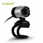 AUSDOM AW335 1080 P HD USB Webcam Draait 360 Graden Netwerk Camera met Ingebouwde Microfoon voor Skype/FaceTime/YouTube/Hangouts