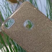 Калъф за Huawei P10 Lite силиконов гръб златен брокат