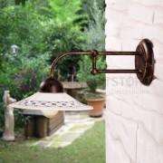 Ceramiche Borso Fiesole Applique Da Parete In Ferro Battuto E Ceramica D.21 Rustica Country