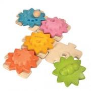 Drewniane puzzle koła zębate (standard), Plan Toys