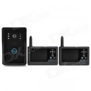 """SY359MJ12 3.5 """"TFT de telefono inalambrico de 2?4 GHz 300KP Puerta de video digital w / vision nocturna - Negro"""