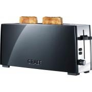 Graef Toaster TO 92, schwarz-matt, 1 langer Schlitz, für 2 Scheiben, 880 W
