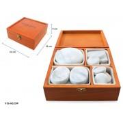 QMED 956-MS20W- Pietre de marmura rece pentru terapie, in cutie de lemn