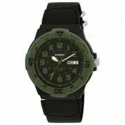 Casio MRW-200HB-1BVDF analogico de cuarzo reloj negro + verde (sin caja)