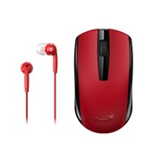 Genius MH-8100 Wireless Mouse and Wired Earphone Combo | 312-80001403