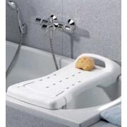 DuBaStar fürdető pad, fogantyúval, 74 x 29 cm, fehér