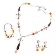 Set bijuterii GANELLI- colier lung bratara cercei din pietre semipretioase Piatra Dragonului