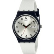 Swatch mulicolor3007 Swatch Men's GN720 Analog Display Quartz White Watch Watch - For Men