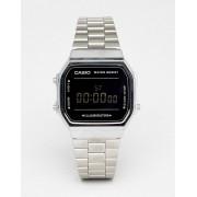 Casio Цифровые часы (серебристый/черный зеркальный) Casio A168W - Серебряный
