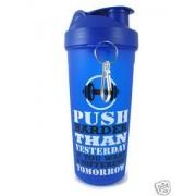 kp ski gym protien blue bpa free 700 ml milk drink shaker sipper bottle with flip cap