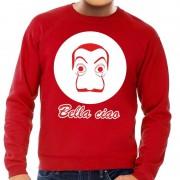 Bellatio Decorations Rode Salvador Dali sweater voor heren