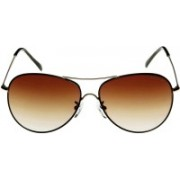 Kenneth Cole Aviator Sunglasses(Brown, Clear)
