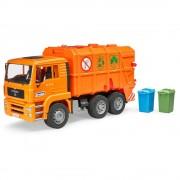 Bruder man tga camion trasporto rifiuti arancione