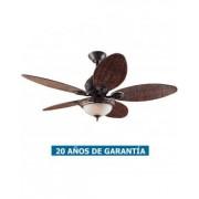 Hunter Ventilador De Techo Con Luz Hunter 24457 Caribbean Breeze Hoja De Palmera / Bronce Desgastado