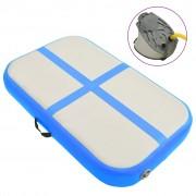 vidaXL Надуваем дюшек за гимнастика с помпа, 60x100x10 см, PVC, син