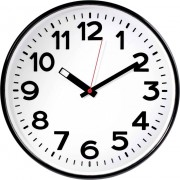 Ceas de perete cuarţ, negru, EuroTime 82320