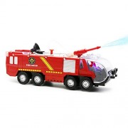 Pumper Fire Truck, Newnet Fire Squad Water Cannon Truck,Bump and Go Kids Toy Action Engine with Lights and Sound