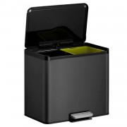 EKO Essential Recycler pedaalemmer afvalscheider - 2 x 15L - zwart