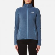 The North Face Women's 100 Glacier Full Zip Fleece Jumper - Provincial Blue Stripe - XS - Blue