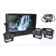 "AHD couvací set s 7"" LCD monitorem + 3x kamera s 18x IR LED do"