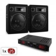 """Electronic-Star PA Set """"Malone Bluetooth SPL"""" par altavoz 15"""" (38 cm) y amplificador de 1000 W (Pl-10867-212)"""
