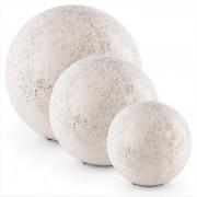 Gemstone Conjunto com 3 Luzes Esféricas 3 Tamanhos Visual de Pedra