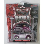Maisto Urban Die Cast Collection Ridez 1:64 Scale Silver/Purple VW Beetle Cabriolet #15494