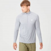 Myprotein Performance Long-Sleeve ¼ Zip-Top - XS - Silver Marl
