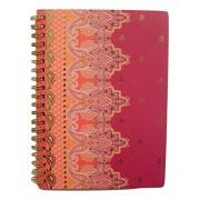Carolina Pad Studio C College Ruled Foil Cover Spiral Notebook ~ Taj Mahal (Violet, Pink and More; 5' x 7'; 80...