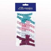 Comair pillangócsatt színes műanyag (12db)