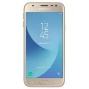 "Telefon Mobil Samsung Galaxy J3 (2017), Procesor Quad-Core 1.4GHz, PLS TFT LCD 5"", 2GB RAM, 16GB, 13MP, 4G, Wi-Fi, Dual Sim, Android (Gold) + Cartela SIM Orange PrePay, 6 euro credit, 6 GB internet 4G, 2,000 minute nationale si internationale fix sau SMS"