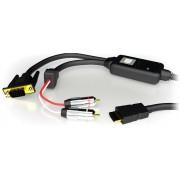 Cavo Convertitore da HDMI a VGA (RGB) con Audio, Nero
