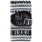 Capa Carteira em Pele para Samsung Galaxy Grand Prime - Hakuna Matata